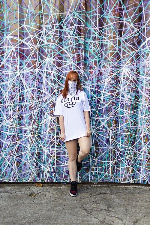 girl  tshirt  mask