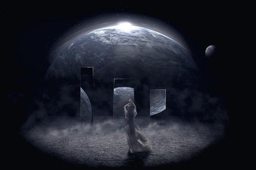 girl  cosmos  mystic
