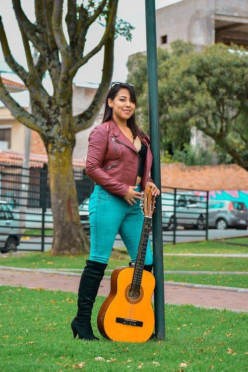 girl  woman  leather jacket
