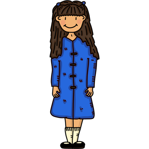 girl  blue coat  princess