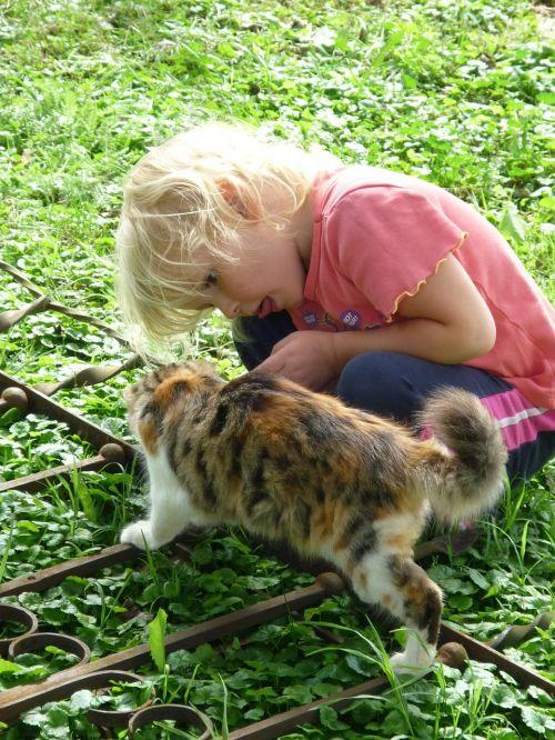 girl cat pet