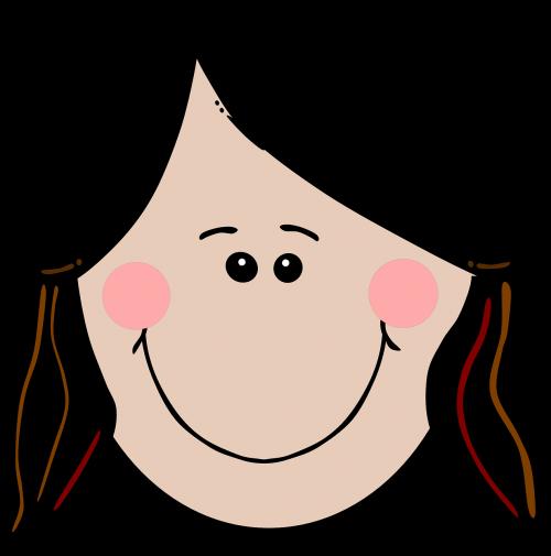 girl happy smiling