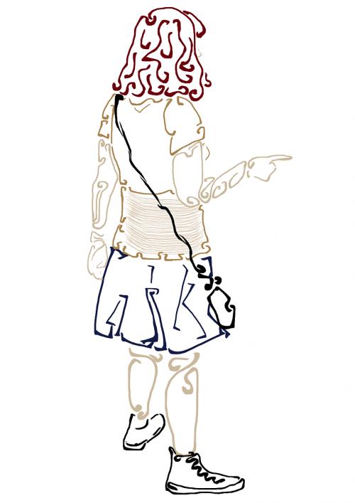 girl teen pointing