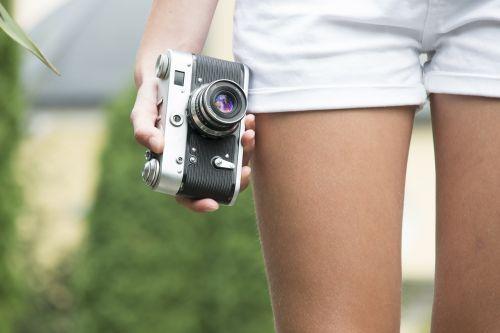 girl camera old
