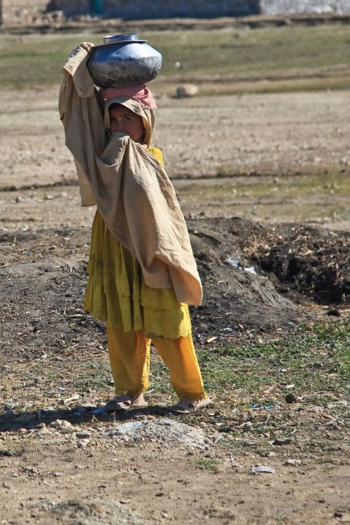 girl afghani person alone