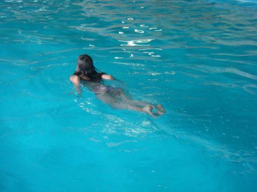 girl water swimming pool