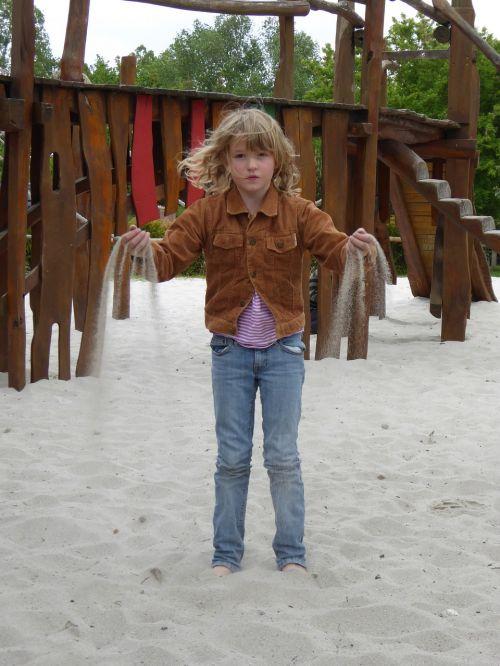 girl child sand