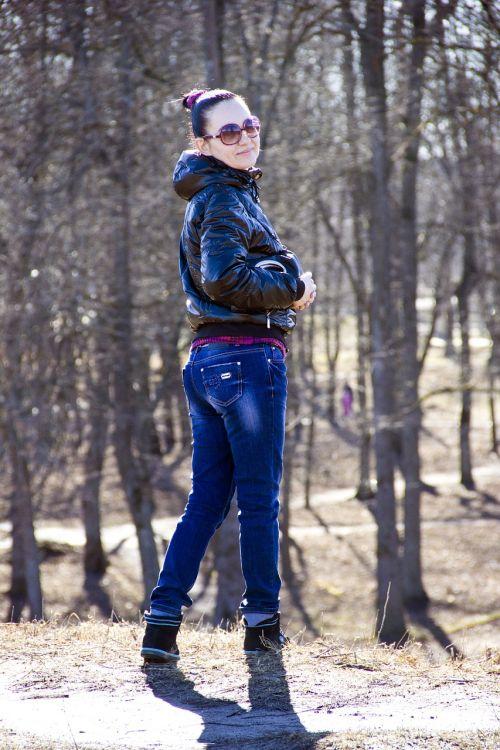 girl stroll park