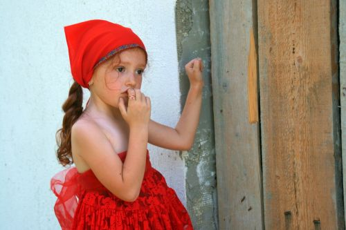 girl red little red riding hood