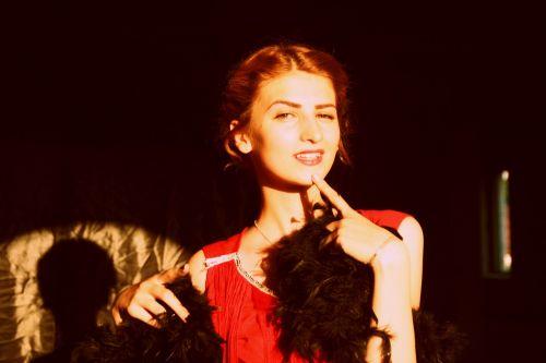 girl vintage dress
