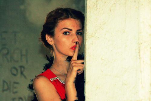 girl vintage red