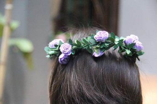 mergaitė,gėlių juosta,galvos juosta,plaukai,mielas,vaikas