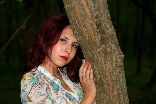 girl portrait forest