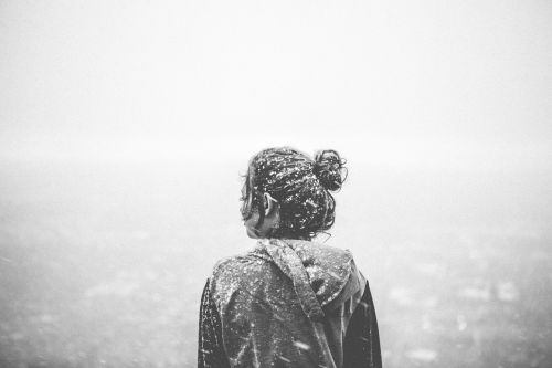 girl woman snow