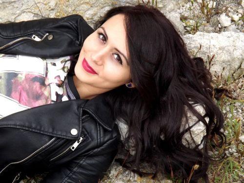 girl portrait black hair
