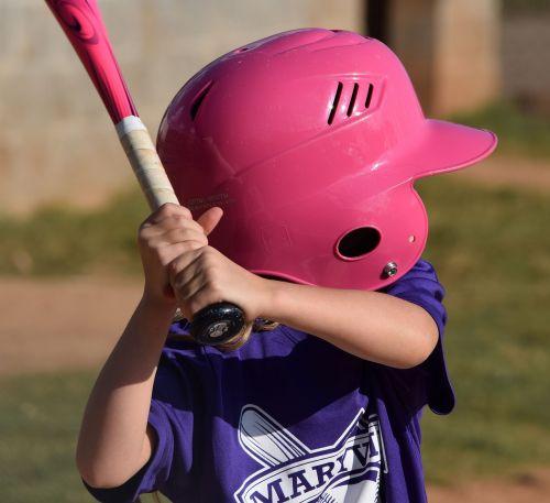 girl at the bat softball sport