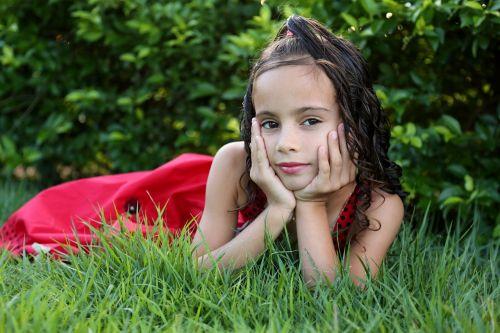 girl looking girl in the garden model