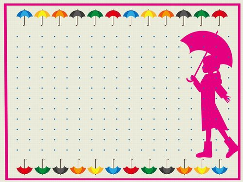 girl with umbrella  digital paper  umbrella background