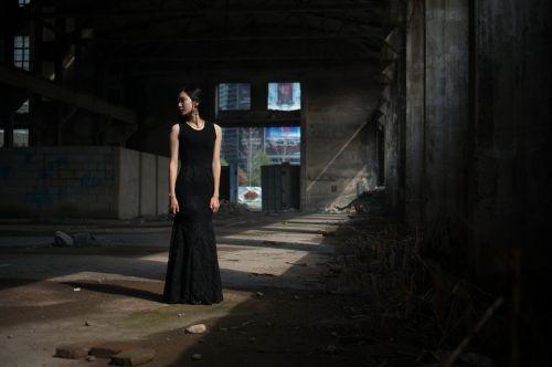 girls female women wearing black skirt