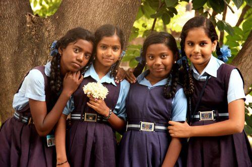 girls smile happy