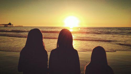 girls children silhouettes