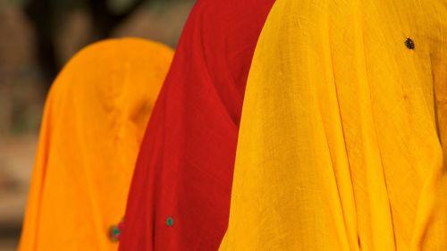 girls colourful shawl india