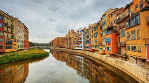 girona painting city colors