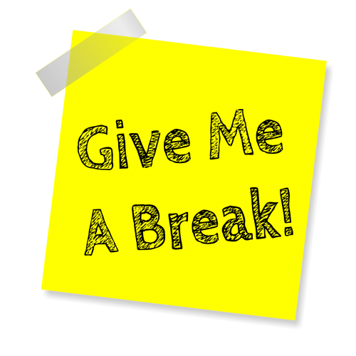 give me a break reminder post note