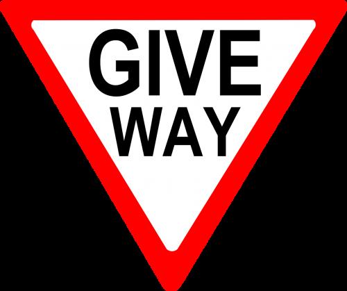 give way way yield