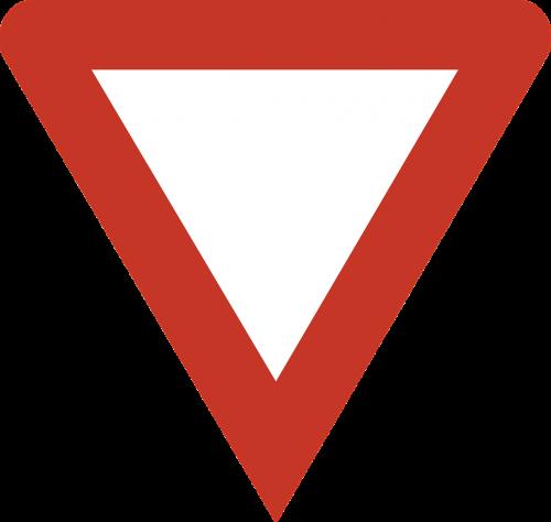 give way danger warning