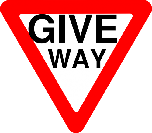 give way sign yield sign roadsign