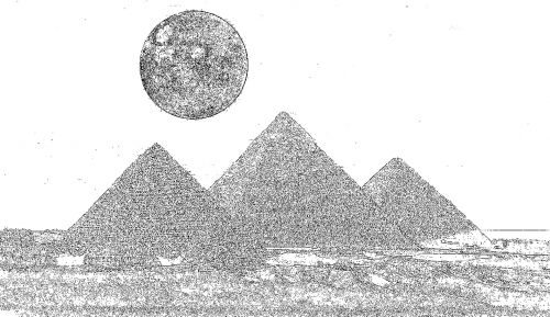 Giza And The Moon