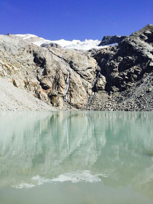 glacial lake zermatt snow