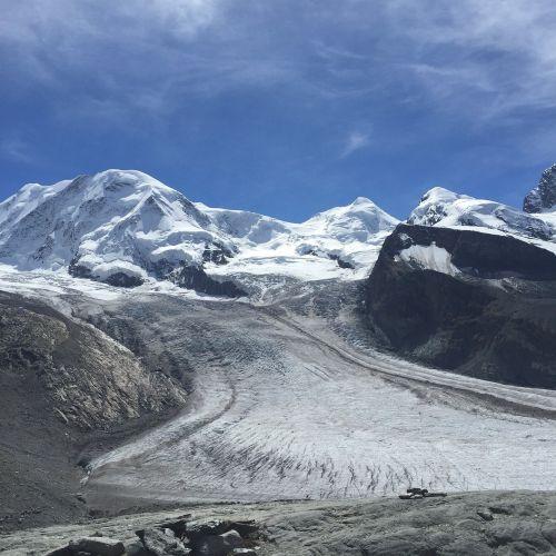 glacier zermatt snow