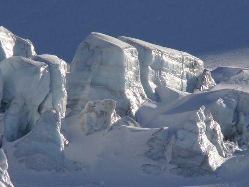 glacier mountain snow