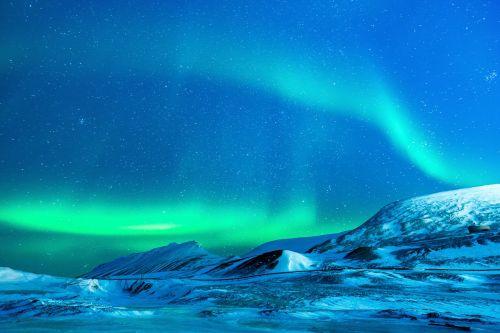 glacier aurora aurora borealis