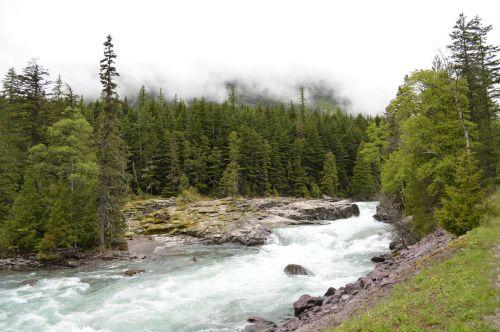 ledynas,nacionalinis,parkas,montana,Nacionalinis parkas,upė,kalnai,uolingas,vanduo,kraštovaizdis,slenksčiai,peizažas,lauke,dykuma,teka,gamta