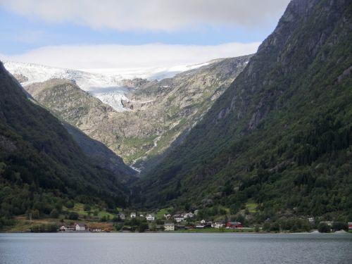 glacier fjord norway