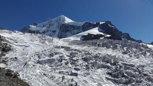 glacier crevasses snow dome