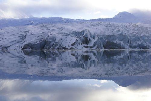 glacier ice snow