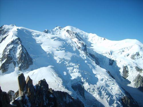 glacier chamonix winter