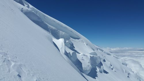 glacier crevasses seracs