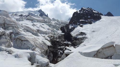 glacier la jonction bossons glacier
