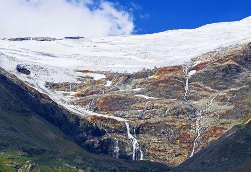 glacier outflows glacier water