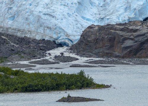 glacier  melting  ice