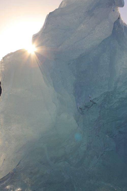 glacier ice sun