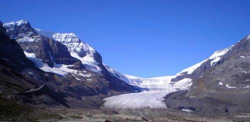 glacier athabasca landscape