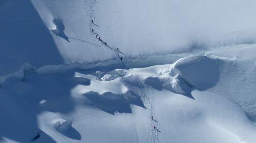 glacier snowfield persons