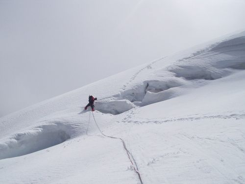 glacier crevasse north wall