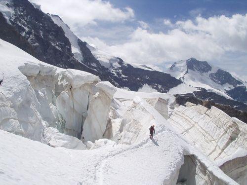 glacier crevasse ice